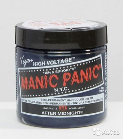 Gallery images and information: manic panic after midnight blue on unbleached hair