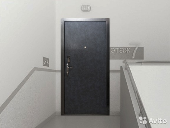 металлические двери без внешней отделки