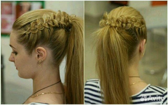 Фото причёски хвост с косой