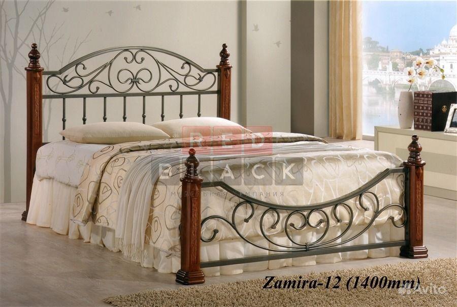 Двуспальную металлическую кровать 160 см замира 12