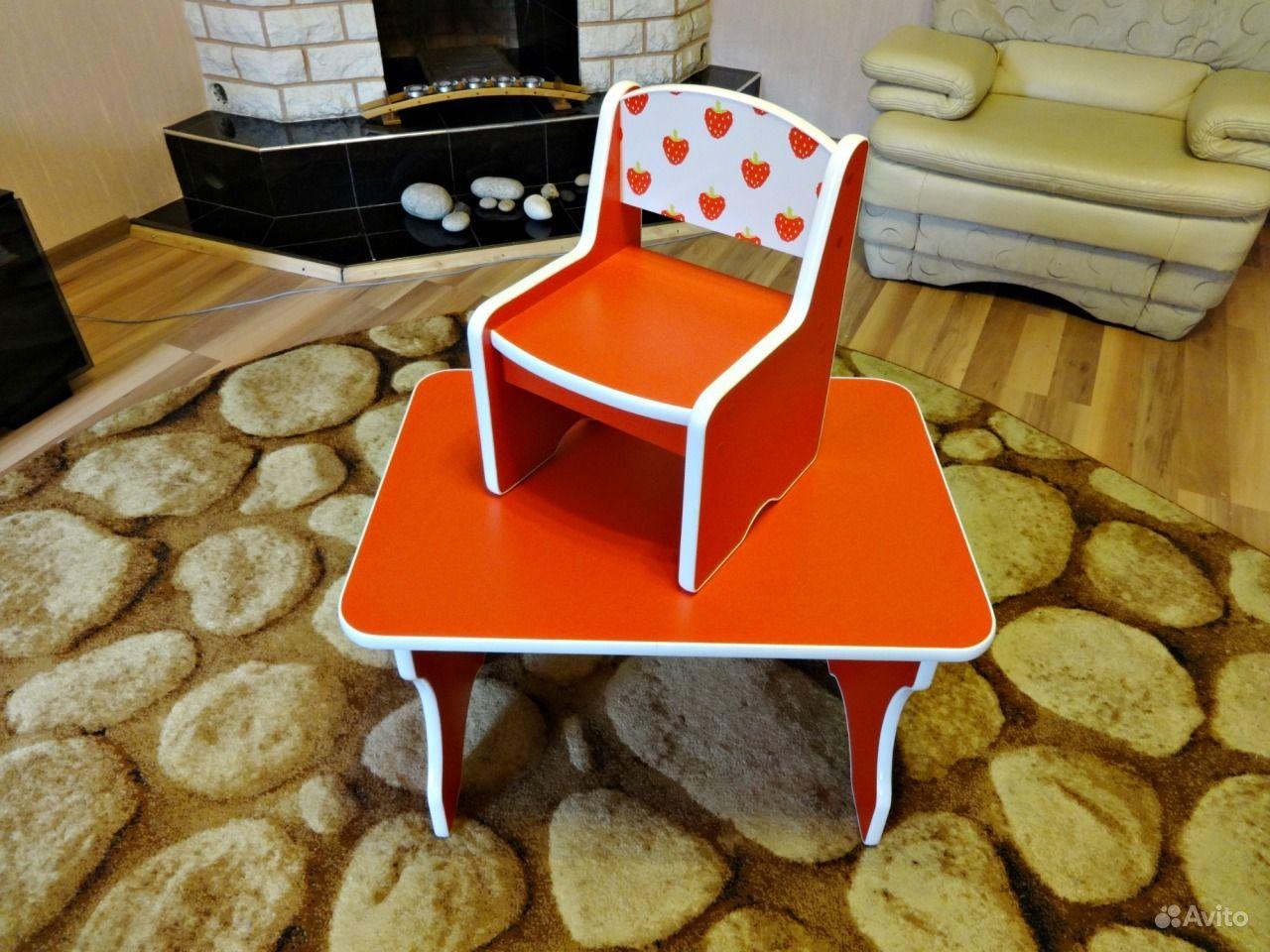 Детский стол и стул для ребенка 2 лет
