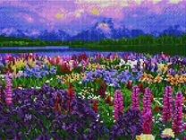 """Алмазная мозаика 30х40,Цветение алтайских трав"""""""