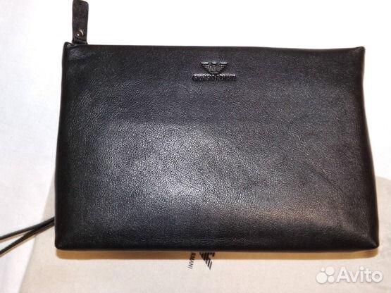Купить мужские кожаные сумки Emporio Armani в интернет