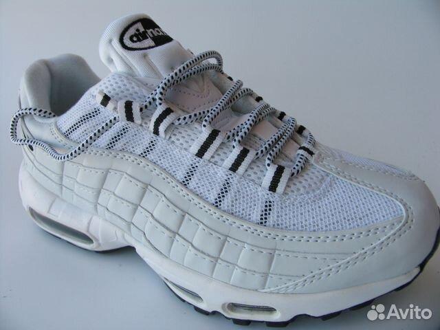 uk availability cceed 6fc1b Кроссовки Nike Air Max 95 Белые Чер.П.35— фотография №1
