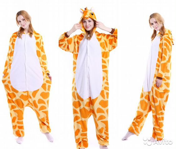 Кигуруми Пижама Костюм жираф для вечеринки  a50874f43f3b2