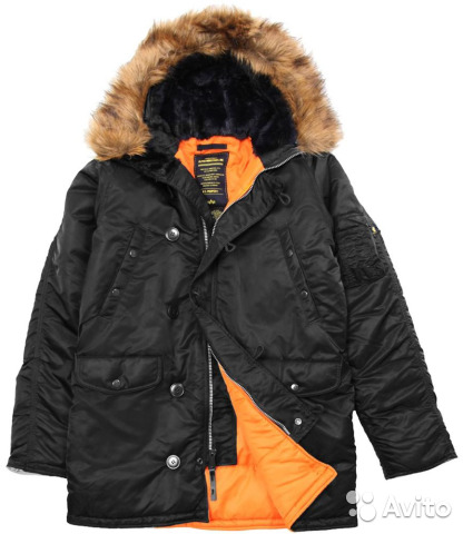 13e6db4ccfd Куртка аляска мужская N-3B Slim fit черная 3XL