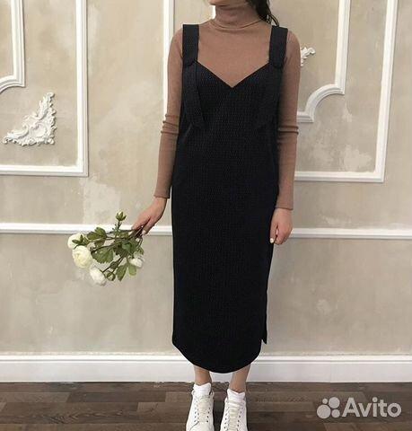 8078bddd9a7 Платье-сарафан из микро вельвета
