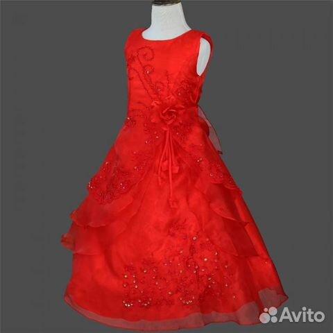 57df750aafa Красное пышное платье для девочки