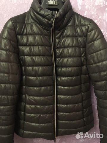 Куртка кожаная демисезонная  89056454254 купить 1