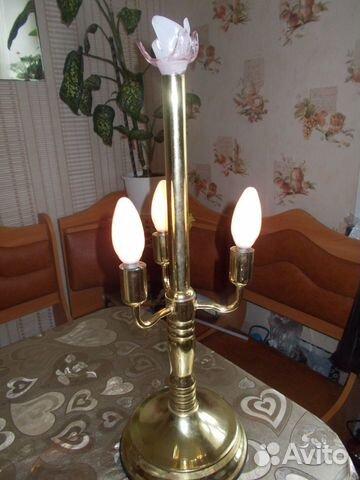 Лампа настольная подсвечник