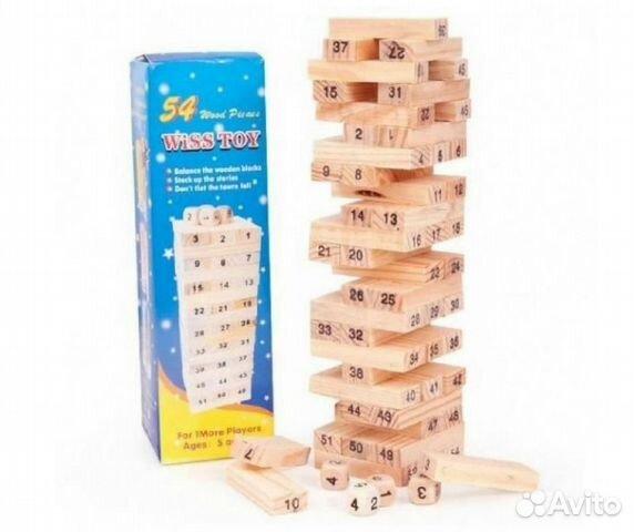 84942303606 Игра Jenga Classic Дженга падающая башня в коробке