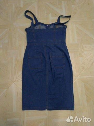 Платье сарафан джинсовый стрейч 89210057775 купить 2