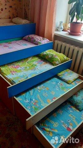 Пятиуровневая кроватка+шкафчики