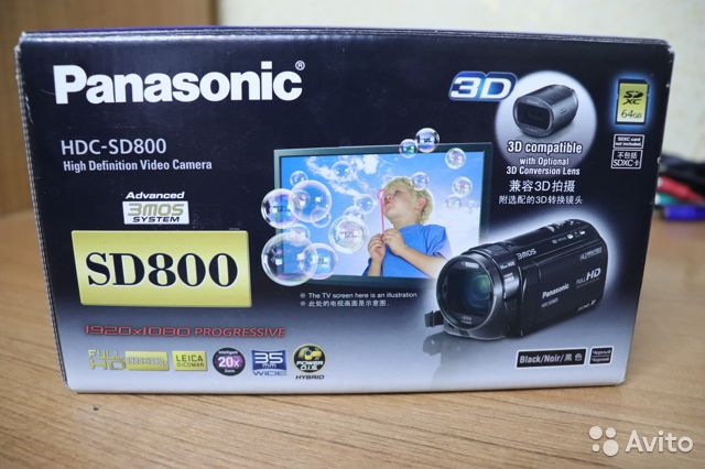 Видеокaмepа Раnаsoniс hdс-SD800 89381477093 купить 3