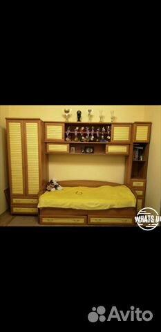 Кровать стенка детская + столик Обмен  купить 1