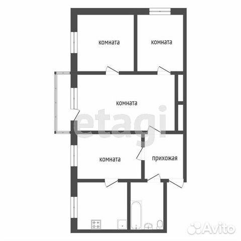 4-к квартира, 58.9 м², 3/5 эт.  89620474619 купить 7