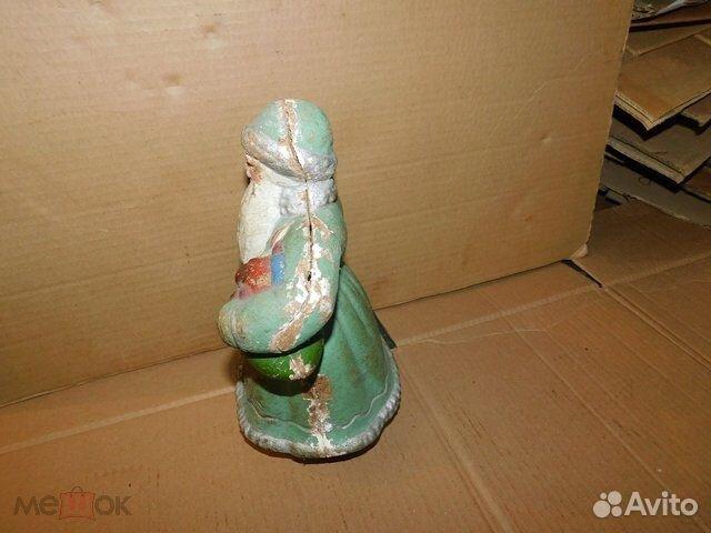Старинная новогодняя игрушка дед Мороз пресс-опилк  89065103360 купить 4