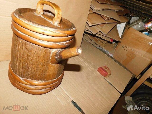 Старинный пивной-квасной дубовый бочонок 4-5 л  89065103360 купить 3