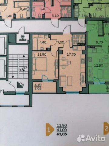 1-к квартира, 41 м², 5/16 эт.  89616643143 купить 1
