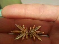 Золотые серьги с бриллиантами (бел. и крас.золот.)