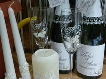 Свадебные бокалы, свадебные наборы. Каллиграфия