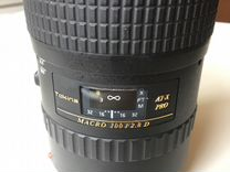 Объектив Tokina AT-X Pro macro 100 f2.8 D for Cano