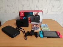 Продам игровую приставку Nintendo Switch + 2 игры