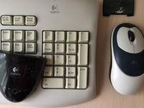 Logitech беспроводная клавиатура и мышь