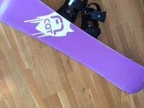 Сноуборд f2 cat с креплениями burton freestyle m