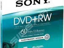 Диски DVD+RW Sony, 60min, 2.8 Gb, 8 см