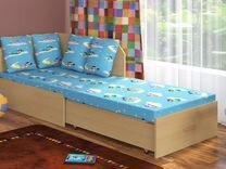 """Детский диван """"Гном"""" с матрасом и подушками"""