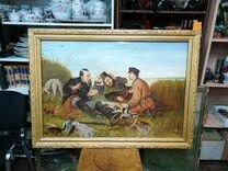 Картина маслом Охотники на привале